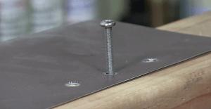 fastener install into brass threaded inserts