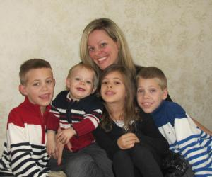 Lindsay Connors and her four children
