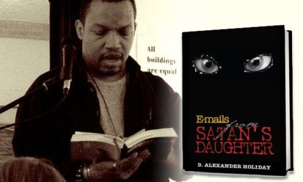 "D. Alexander Holiday's new book, ""Emails From Satan's Daughter"""