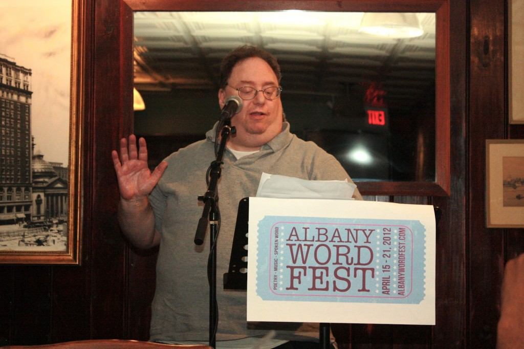 Don Levy reading at the 2012 Albany Word Fest. Photo credit: Dan Wilcox