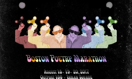 At The 2017 Boston Poetry Marathon with Alifair Skebe