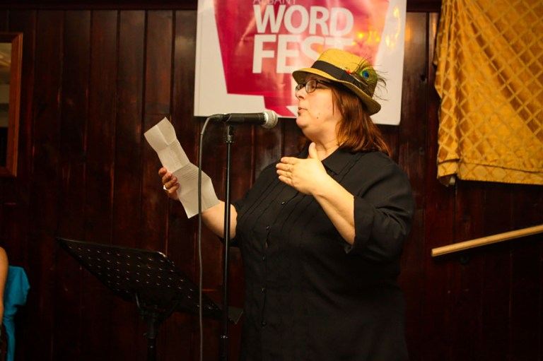 Cheryl A. Rice at the 2014 Albany Word Fest Up The River
