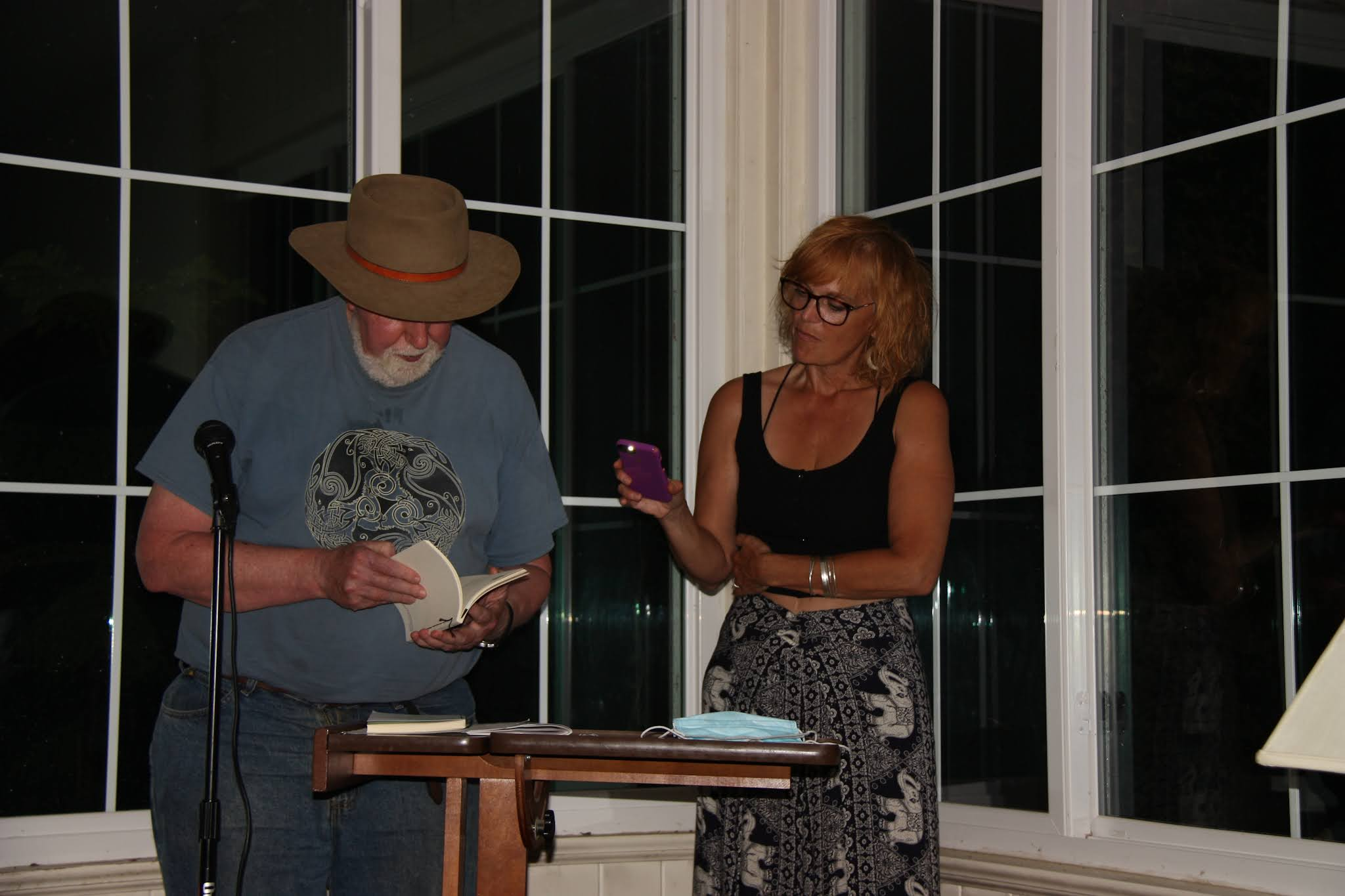 Alan Casline reading at the Pine Hollow Arboretum