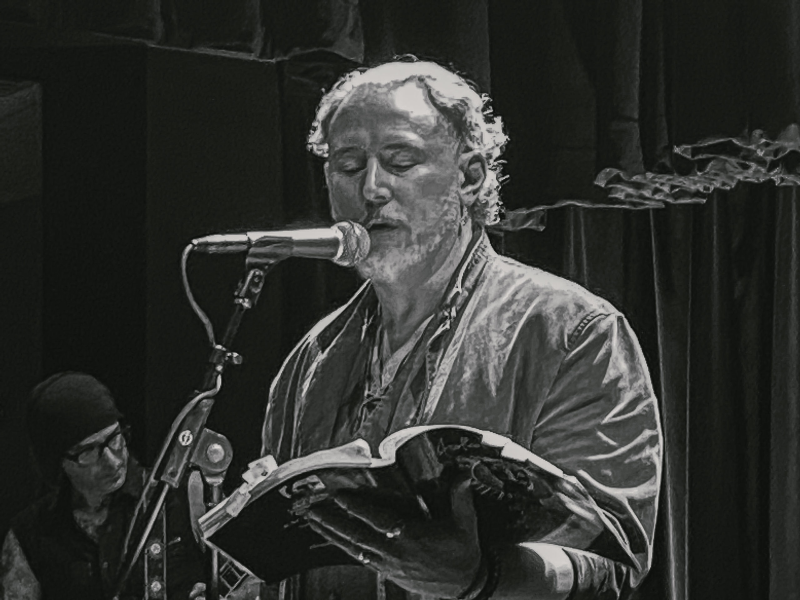 R.M. Englahardt reading his poetry at The Linda in Albany, NY