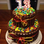 13 Birthday Cake Decided To Try This For My Sons 13 Th Bday What Fun This Was To