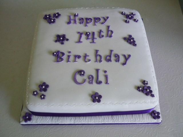 14Th Birthday Cake Happy 14th Birthday Supercakes Diane Fry