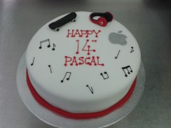 14Th Birthday Cake Music And Technology Themed 14th Birthday Cake Crumbs Cake Shop