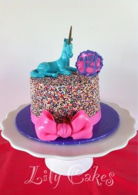 14Th Birthday Cake Sprinkle Cake For My Daughters 14th Birthday Unicorn From Urban