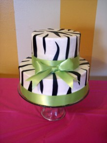 14Th Birthday Cake Zebra Print And Green 14th Birthday Cake Cakecentral