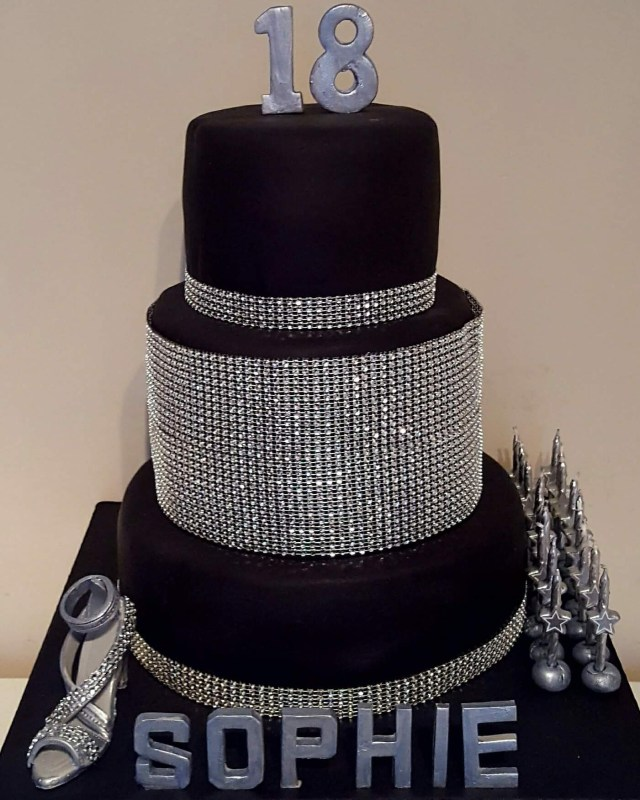 18 Birthday Cake Diamante Diamonds Themed 18th Birthday Cake 2 Chefs Passion