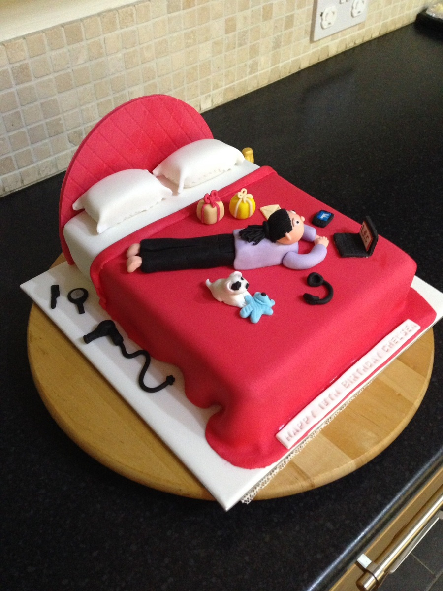 18th Birthday Cake Designs 18th Birthday Bed Cake Design For A