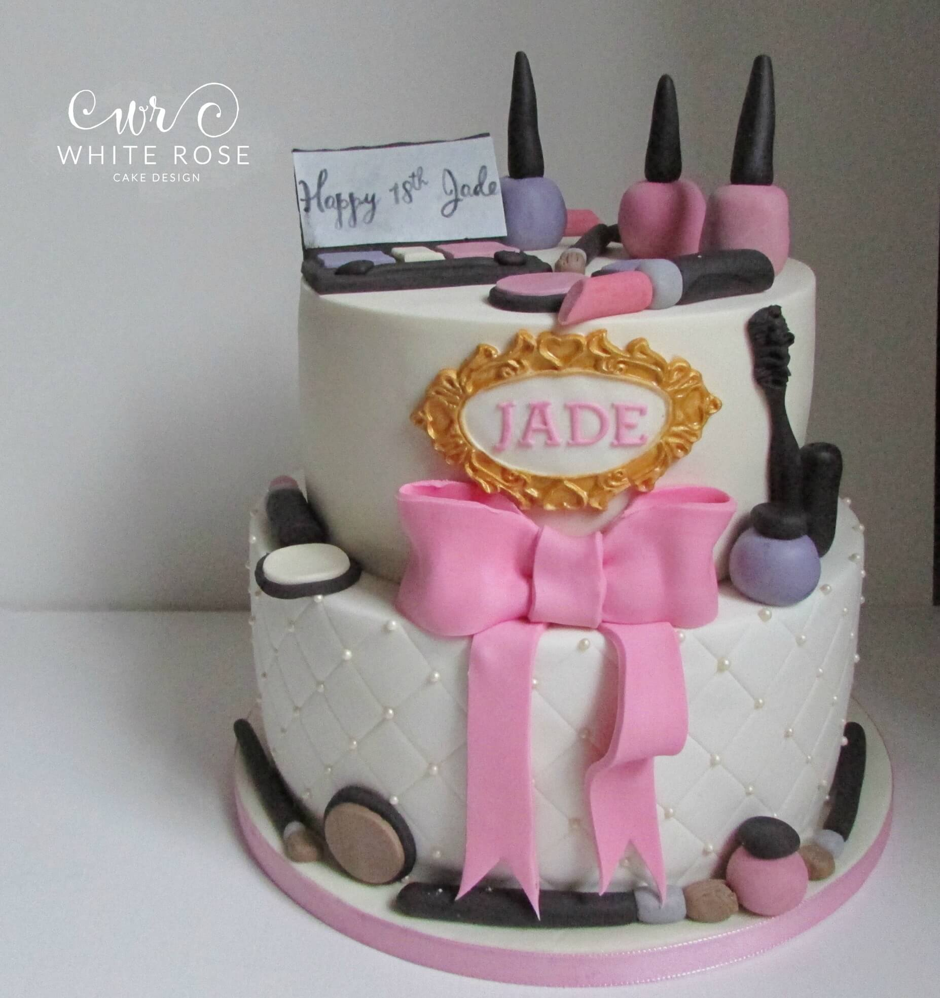 18th Birthday Cake Designs Two Tier Make Up Themed 18th Birthday