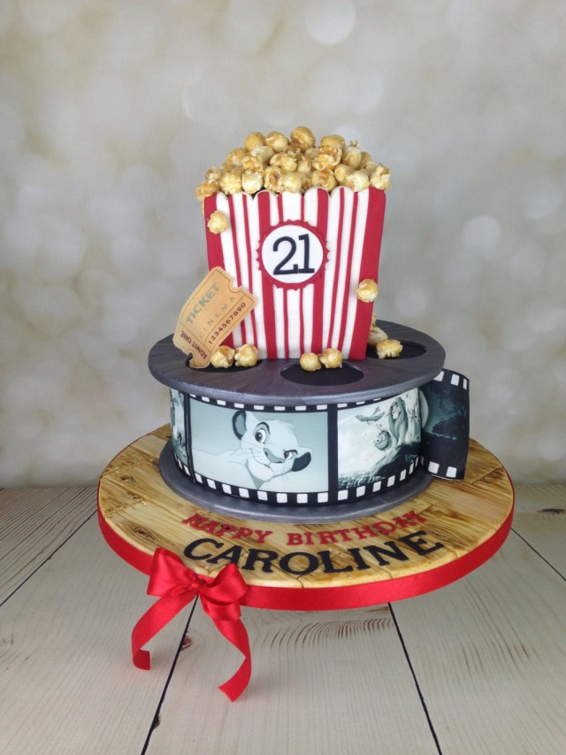 21 Birthday Cakes Film Reel And Popcorn 21st Birthday Cake Mels Amazing Cakes