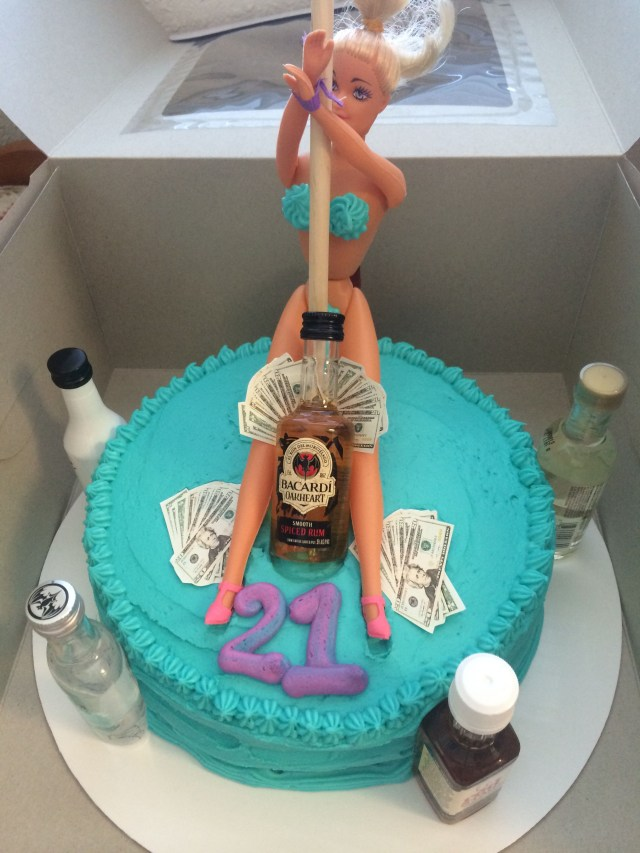 21St Birthday Cakes For Guys 21st Birthday Cake Stripper Cake Alcohol Cake Money Mens Cake