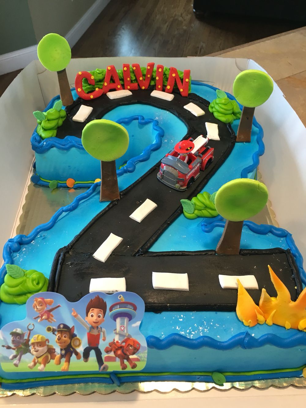 2Nd Birthday Cake Ideas Paw Patrol 2nd Shaped Numbercakes Pinterest