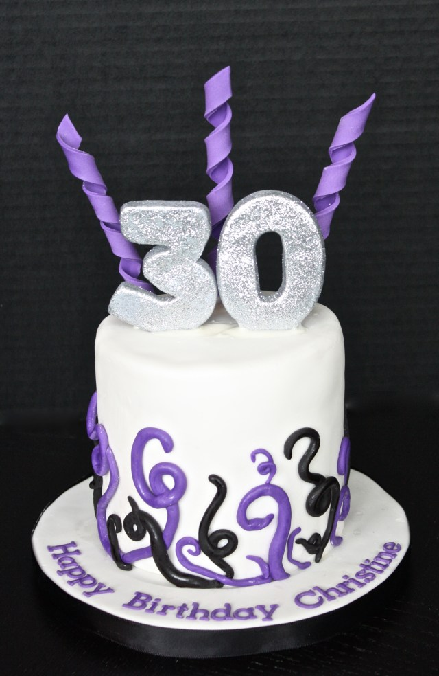 30Th Birthday Cake 30th Birthday Cake Topper Cupcakes The Hudson Cakery