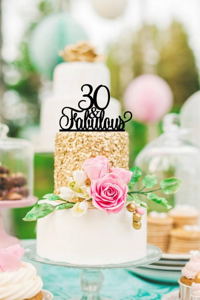30Th Birthday Cake Original 30 And Fabulous 30th Birthday Cake Topper 0167 2418097