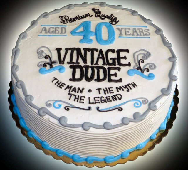 40Th Birthday Cake Ideas 40th Vintage Sweet Somethings Desserts