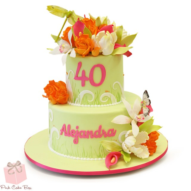 40Th Birthday Cake Ideas Whimsical 40th Birthday Cake