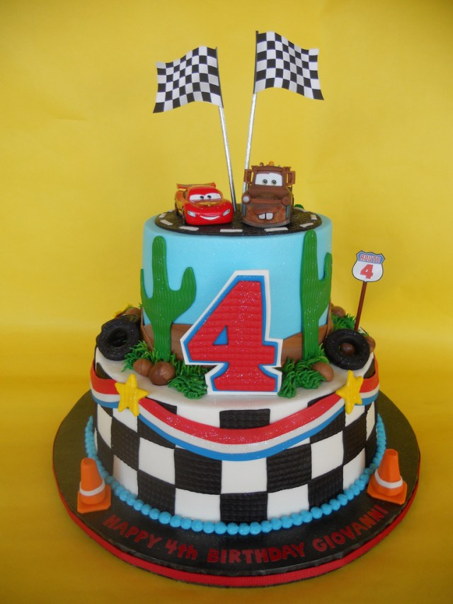 4Th Birthday Cake Disney Cars 4th Birthday Cake Amy Stella Flickr