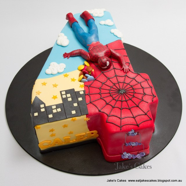 4Th Birthday Cake Jakes Cakes Spiderman Cake 4th Birthday