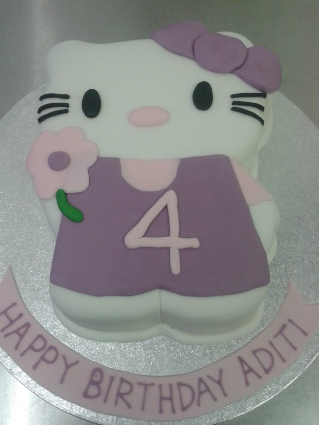 4Th Birthday Cake Purple Hello Kitty 4th Birthday Cake Crumbs Cake Shop Sheffield