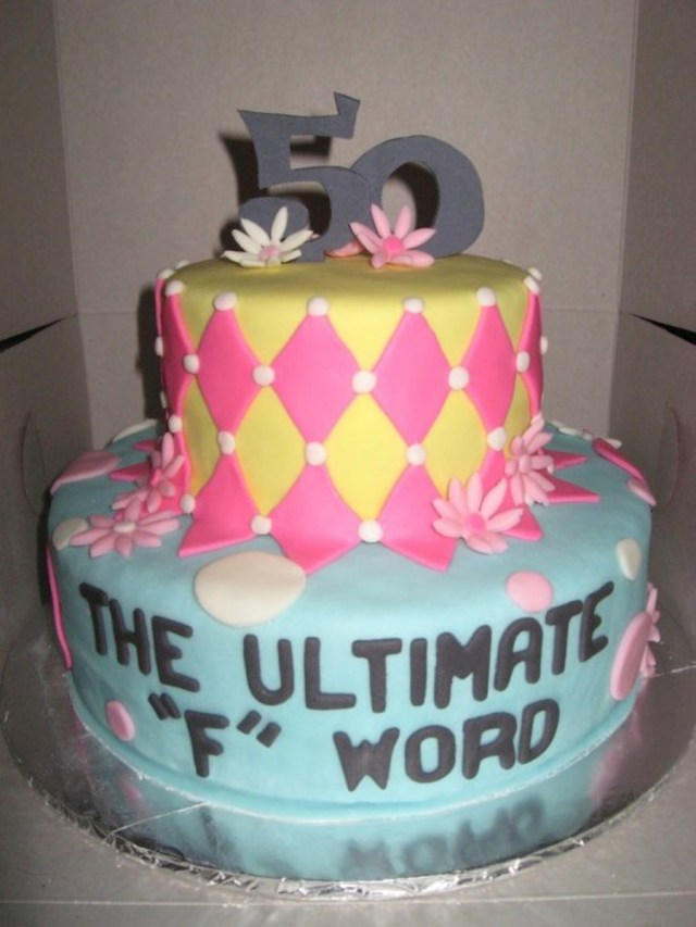 50Th Birthday Cake Ideas For Her Funny 50th Birthday Cake Cakecentral