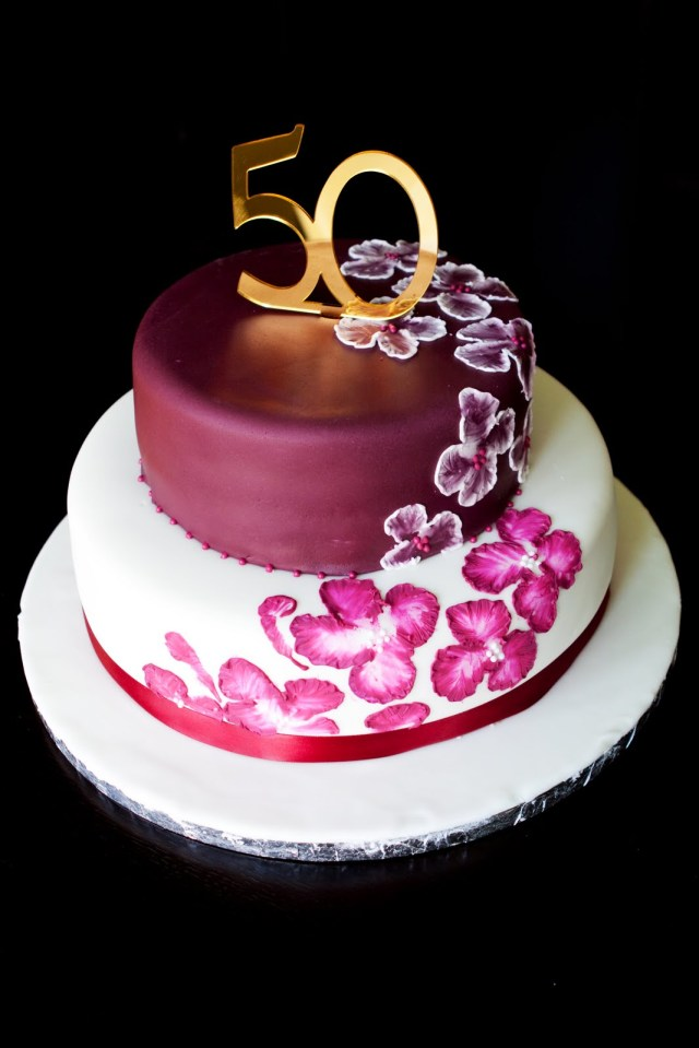 50Th Birthday Cake Ideas For Him 50thcake Birthday Cake Top 50 Cakes 50th Decorations For Her Designs