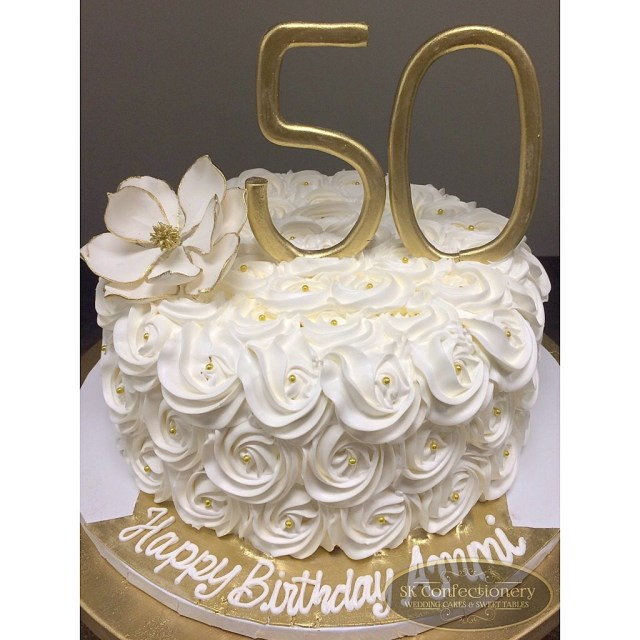 50Th Birthday Cakes 50th Birthday Celebration Cake For Mom Elegant And Classy With