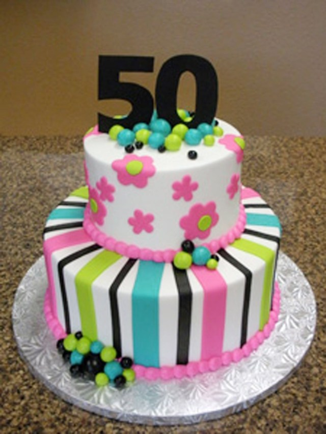 50Th Birthday Cakes For Men 50th Her Cake Man And Woman Image Inspiration