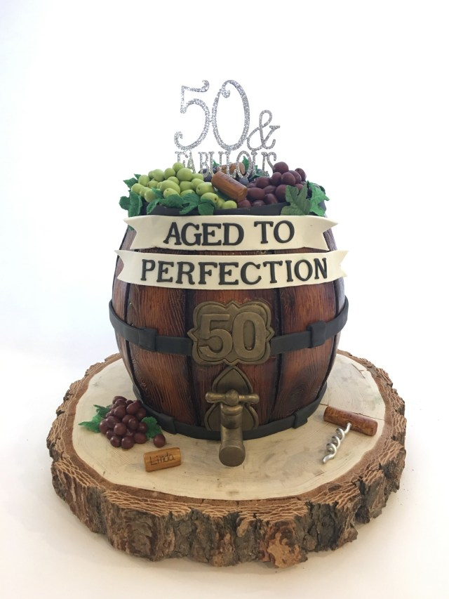 50Th Birthday Cakes For Men Wine Barrel 50th Birthday Cake Cakes Pinterest Birthday Cake