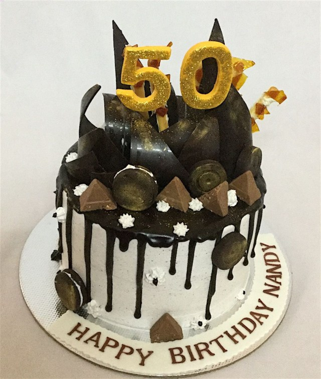 50Th Birthday Cakes Online Customized Cakes Delivery I Bangalore L Theme Cakes L Miras