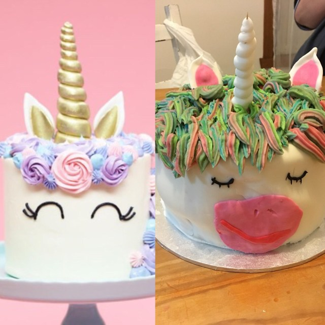 5Th Birthday Cake Tried To Make A Unicorn Cake For My Sisters 5th Birthday