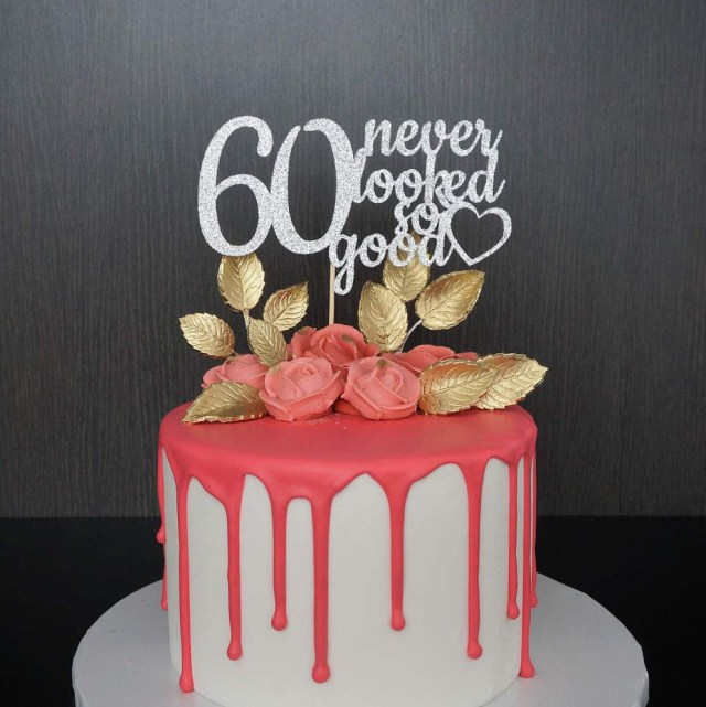60Th Birthday Cake Toppers Any Name Happy 16 Topper 16th