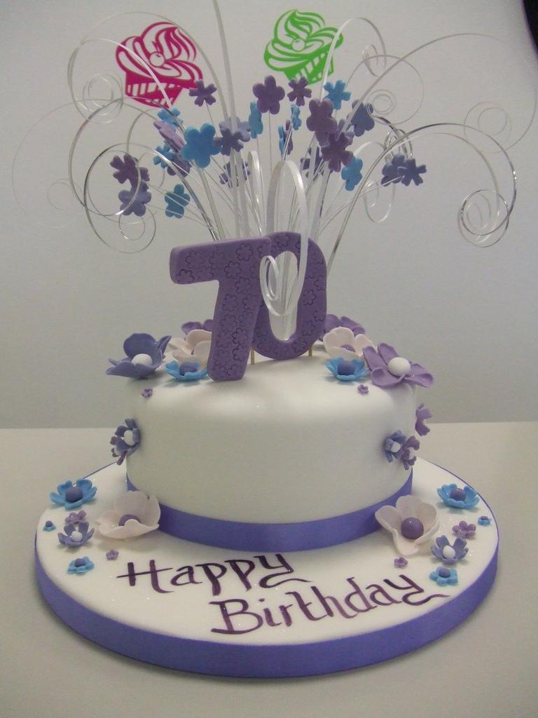70Th Birthday Cake Cake 70th Birthday Jules Enquiriescakechestercouk Flickr