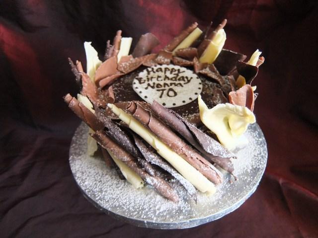 70Th Birthday Cake Chocolate Birthday Cake For A 70th Birthday Chocolate Delores