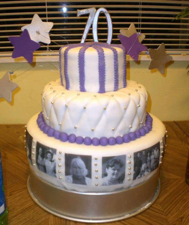 70Th Birthday Cake Grandmas 70th Birthday Cake Desserts In 2018 Pinterest