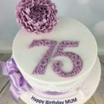 75Th Birthday Cake Lilac Peony 75th Birthday Cake Mels Amazing Cakes
