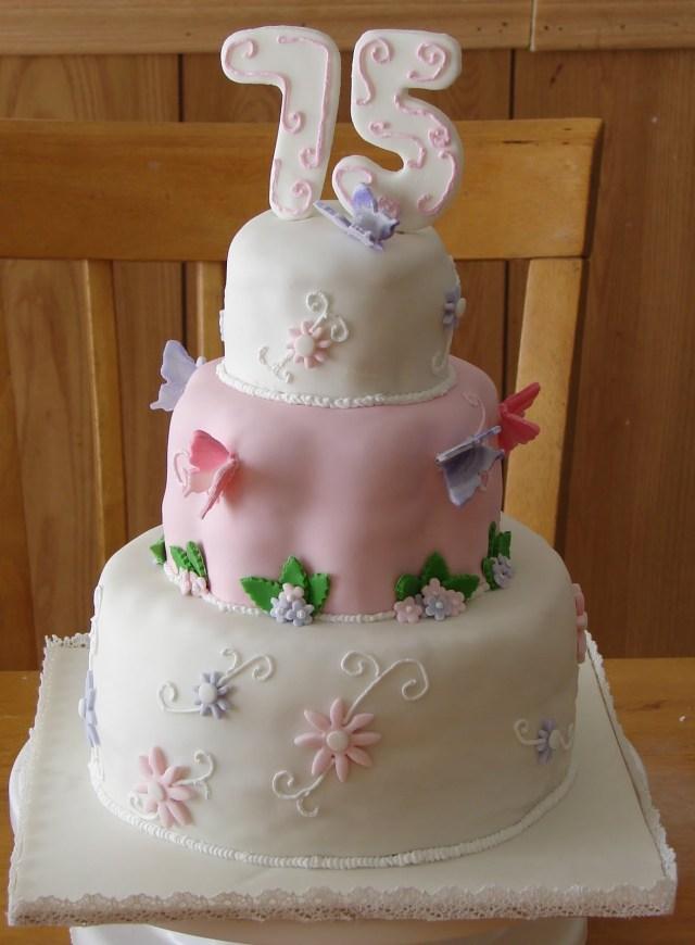 75Th Birthday Cake My Cake Hob 75th Birthday Cake