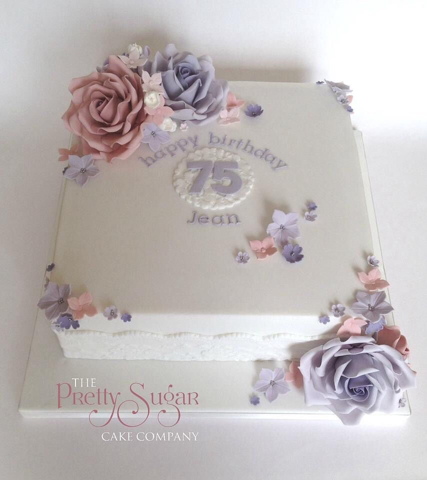 75Th Birthday Cake Pretty 75th Seventyfifth Birthdaycakes Lilac Blush