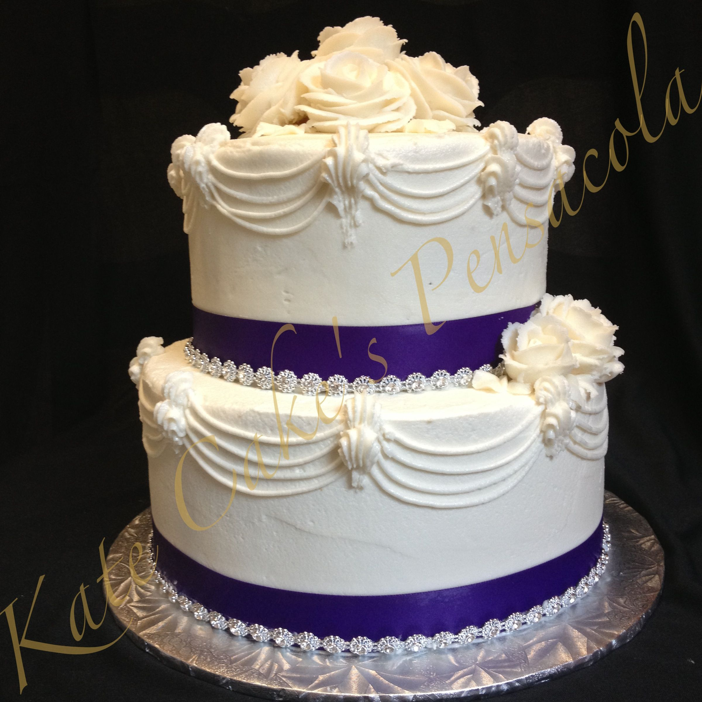 75Th Birthday Cake Two Tiered Birthday Cake 75th Birthday Cake With Bling Kates Cakes