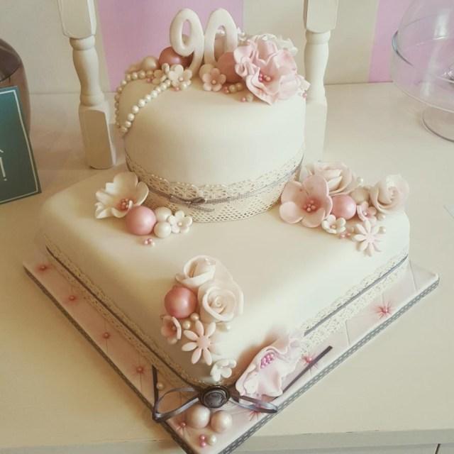 90Th Birthday Cake Ideas 90th Helen At Fairy Artistic Cakesdecor