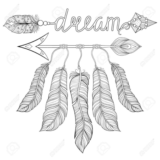 Arrow Coloring Pages Indian Arrow Coloring Pages For Kids With Boho Chic Ethnic Dream