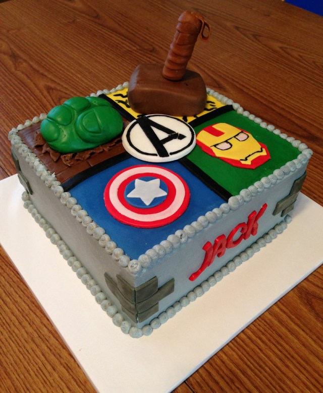 Avengers Birthday Cakes Avengers Birthday Cake Buttercream Frosting With Mmf Accen Flickr