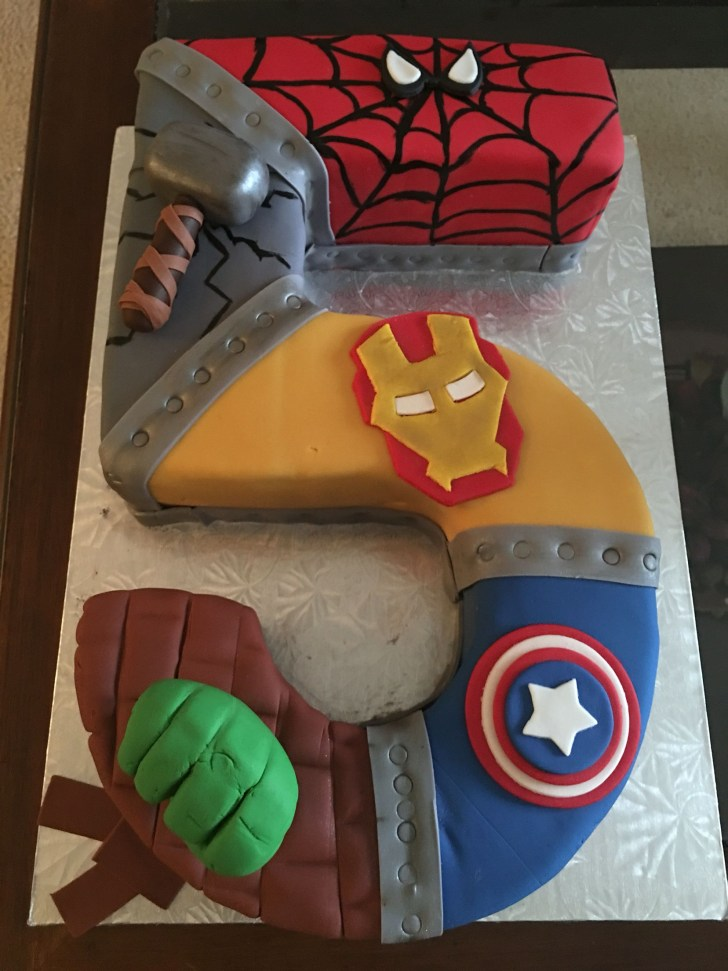 35+ Excellent Image of Avengers Birthday Cakes