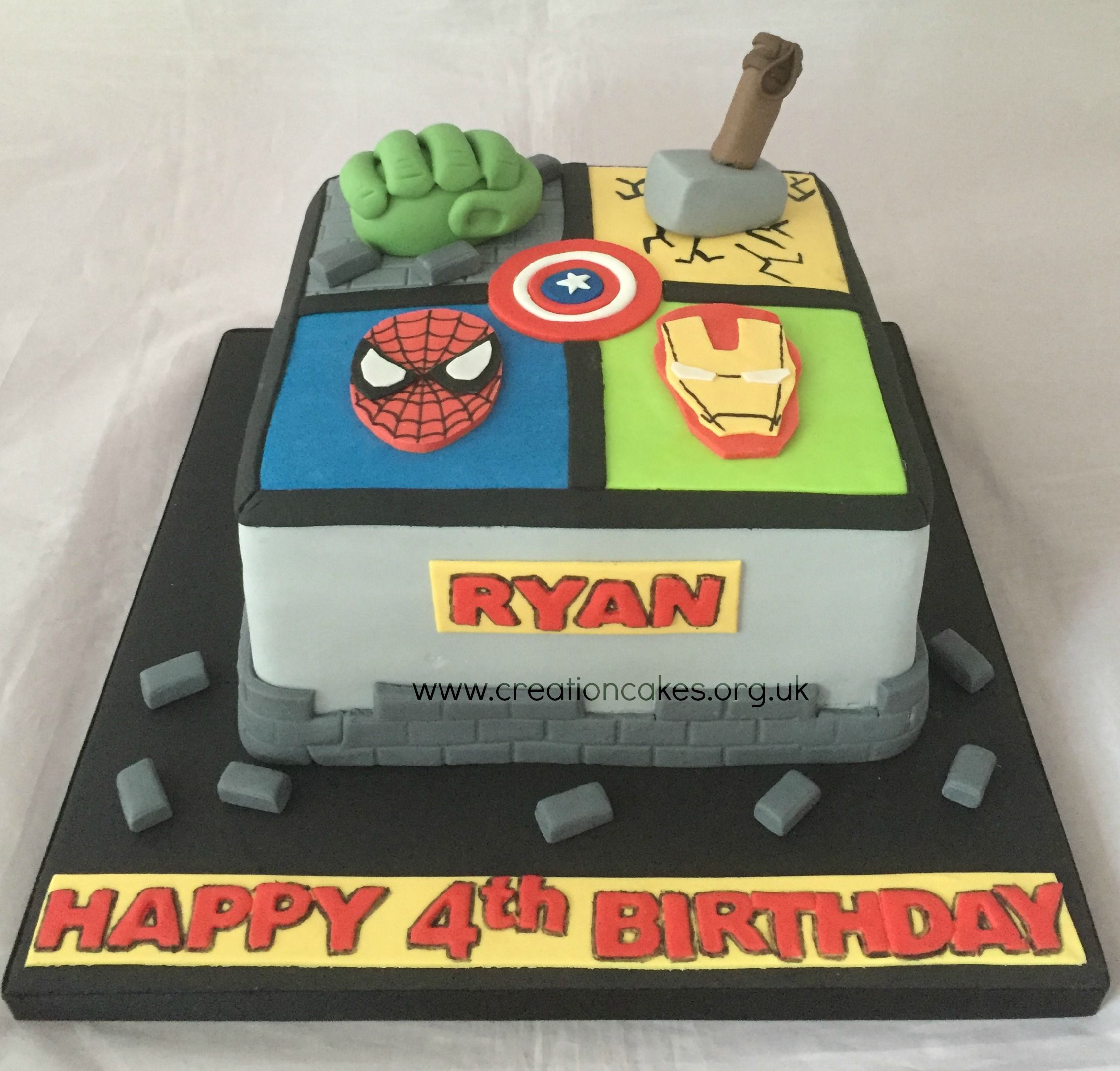 Avengers Birthday Cakes Marvel Cake 3rd Bday Faves Pinterest