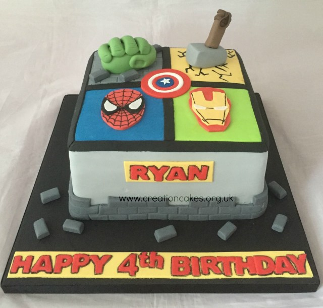 Avengers Birthday Cakes Marvel Avengers Birthday Cake 3rd Bday Cake Faves Pinterest