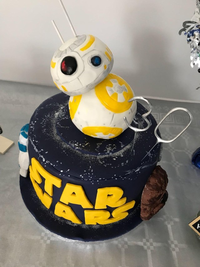 Awesome 30Th Birthday Cakes For My 30th Birthday My Girlfriend Made This Awesome Cake Starwars
