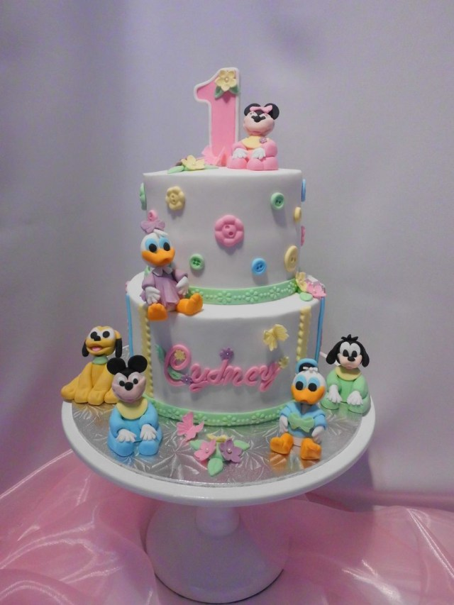 Baby 1St Birthday Cake Disney Babies First Birthday Cake Onithi Pinterest Birthday