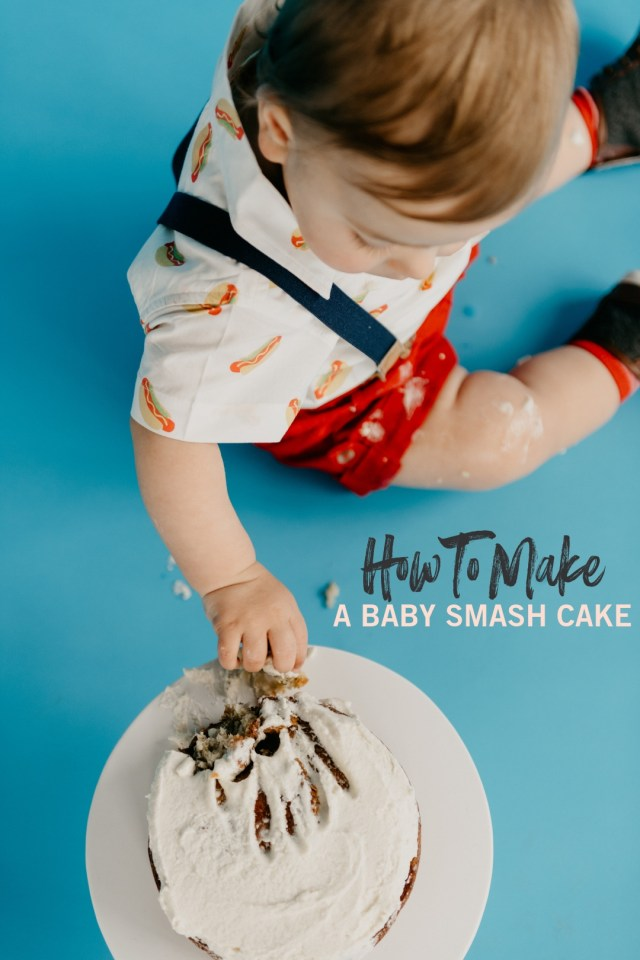 Baby 1St Birthday Cake How To Make A Ba Smash Cake A Simple 1st Birthday Party Sweetphi
